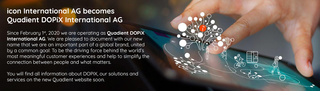icon International AG becomes Quadient DOPiX International AG