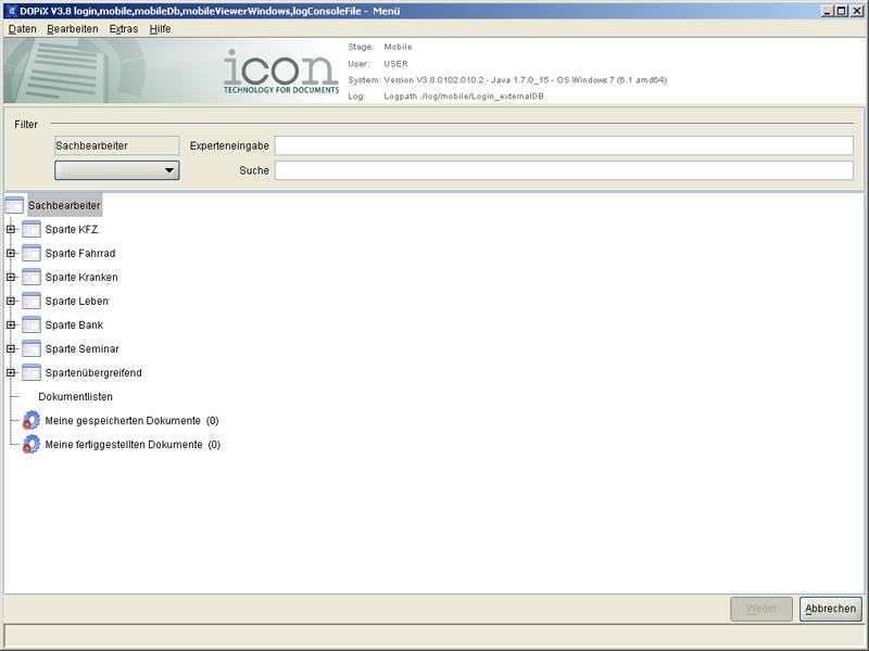 DOPiX/Dialog - FAT Client (Screenshot 1/3)