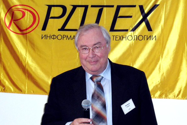 Wolfgang Prassl (COO, ICON International AG) at the press conference in Moscow