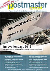 "Postmaster Magazin, Special Edition ""Hunkeler Innovationdays 2015"""